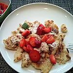 recette Crêpes épaisses aux fraises marinées