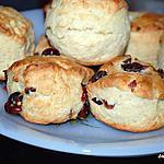 recette scones nature et cranberries