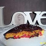 recette brownies chocolat blanc aux éclats de pistache et cerises et chocolat noir