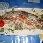 recette Truite de mer farcie a la russe