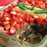 recette Tiramisu aux fraises et chocolat