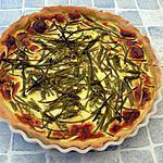 recette Tarte aux asperges sauvages et jambon