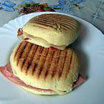 recette Panini au jambon et fromage