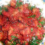 recette Pommes de terre a la tomate