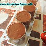 recette MOUSSE AU CHOCOLAT AU BEURE SALE