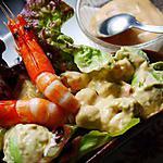 recette Avocat aux crevettes sauce coktail