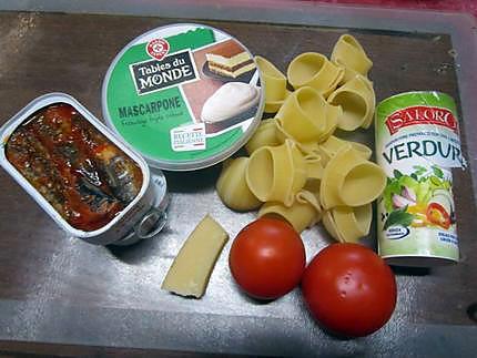 recette de p 226 tes lumaconi au mascarpone sardines parmesan au four
