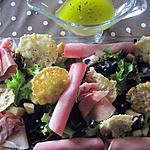 recette salade composée tuiles de parmesan