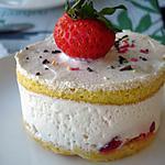 recette mini fraisier au kirsch