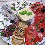 recette Salade de légumes. ricotta.basilic. vinaigrette.6.