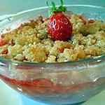 recette Crumble aux fraises & noix de coco