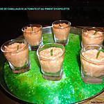 recette MOUSSE DE CABILLAUD À LA TOMATE ET AU PIMENT D'ESPELETTE