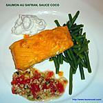 recette SAUMON AU SAFRAN, SAUCE COCO