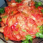 recette Lapin piperade au chorizo