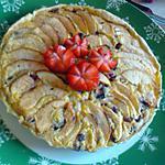 recette tarte au pomme sur lit compote et crème patissière