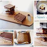 recette Naomi's bars (carrés caramel/chocolat)