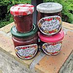 recette Confiture de fraises rouges et blanches,au mélange pain d'épices