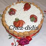 recette Charlotte aux fraises et au fromage blanc