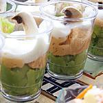 recette verrine avocat soja, saumon, st Moret