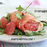 recette Roulés de saumon marinés au chèvre et pamplemousse