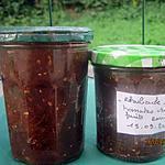 recette Confiture de rhubarbe,tomates vertes,fruits rouges.