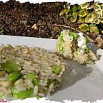 recette Ooo Risotto Feves , pignons , sésame ooO