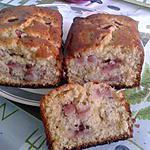 recette Cake moelleux vanille fraise