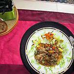 recette poulet   aux légumes   avec fond d artichaut
