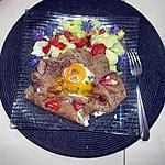 recette galette oeuf     fleur de ciboulette