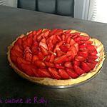 recette Tarte aux fraises et mascarpone façon Ladurée