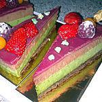 recette ~ Entremet chocolat pistache et gelée de framboise (mon  invention) ~