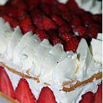 recette Le fraisier mascarpone citron vert