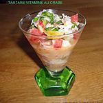 recette TARTARE VITAMINÉ AU CRABE