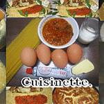 recette Omelette à la crème d'anchois.accompagné de spaghettis.