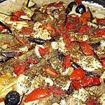 recette Pizza aubergines/ Mozarella
