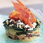 recette Salade de lentilles vertes du Puy et féta, chips de jambon