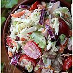 recette ~Salade de chou crémeuse au bacon et aux tomates cerises~
