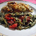 recette filet de poisson  ,,,,   chorizo ,,,,,, crumble