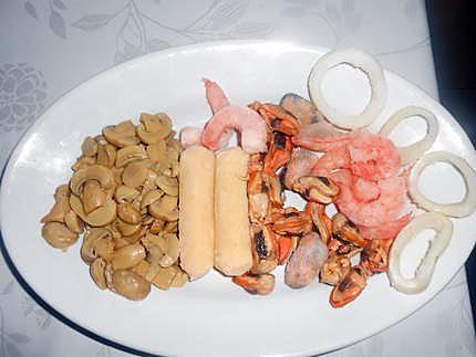 Coquilles de fruits de mer 430