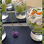 recette Verrines de surimi au concombre