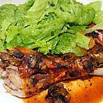 recette Cuisses de dindes rôties aux épices et champignons (basée sur la recette de Jeanmerode)