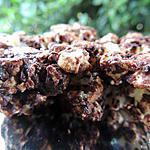 recette Palets de pop corn chocolat