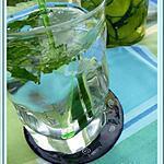 recette Detox water : concombre/menthe