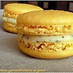 recette Macarons à la ganache citron et pavot