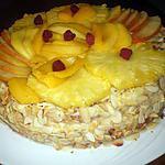 recette Gâteau à la crème et aux fruits.