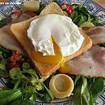 recette Petite salade fraîcheur aux œufs pochés