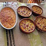 recette clafoutis cerises  et noix de coco
