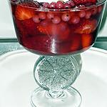 recette nage de fruits  rouges au Cranberry