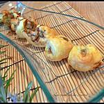 recette minis tricornes au Saint Agur et noix