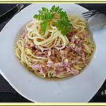 recette Spaghetti crèmes et lardons